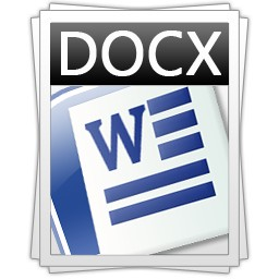 Convert files into the .docx format using Zamzar
