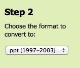 Zamzar convert Powerpoint detail